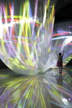 "Fall in Pop by Mint Design + Nobuhiro Shimura "" The theme of Canon neoreal's presentation at milan design week 2012 focuses on the forests which cover our earth; Collage Kunst, Modern Art, Contemporary Art, 3d Fantasy, Light Installation, Light Art, Light And Shadow, Amazing Art, Design Art"
