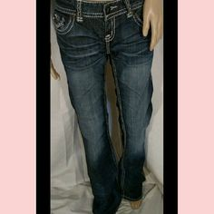 """NWT Rock and Roll Cowgirl Studded Pocket Dark Wash Brand new. Size 28 inseam 36"""". Rise 7.5"""". 98%denim,2%spandex. Rock & Roll Cowgirl Pants Boot Cut & Flare"""