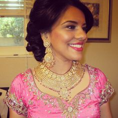 One of my lovely Brides wearing Zeba's Jewels