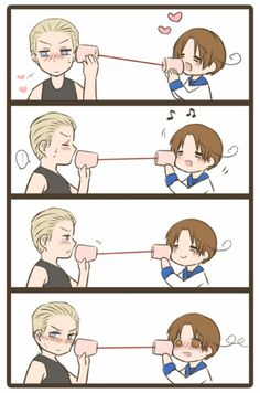 """Germany and Italy from Hetalia...germany..what did you tell him...<<< Germany said """"iche liebe dich"""" *wink wink*"""