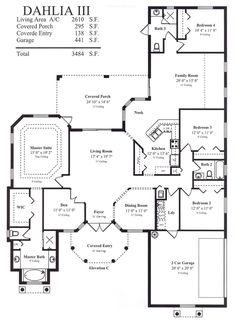 Dahlia III Model Floor Plan @ Tanen Homes