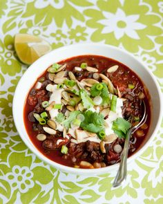 kale and black bean chili!