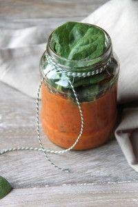 Pasta saus van gegrilde groenten