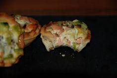 Recetas... y lo que se me ocurra: Miniquiches de calabacín, puerro y salmón ahumado
