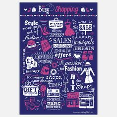 Busy Shopping Print, 14€, now featured on Fab.