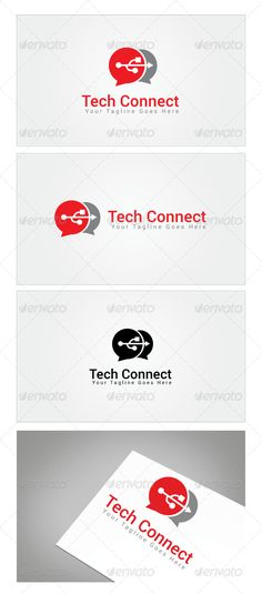 Tech Connect Logoo Template by mia3d Re sizable Vector EPS and AiPSD 6250*4167 Color customizable Fully editable Free font used: http://www.fontsquirrel.com/fonts/robo