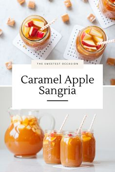 This easy caramel apple sangria recipe is a perfect fall cocktail recipe that's so simple to make and a perennial crowd favorite, year after year!