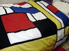 Mondrian Quilt – I want Mondrian's pattern in towels too