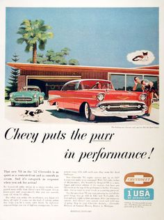 Chevy puts the purr in performance! 1957 Chevy Bel Air and Corvette 1957 Chevy Bel Air, Chevrolet Bel Air, Chevrolet Corvette, Chevrolet Trucks, 1996 Corvette, Classic Chevy Trucks, Classic Cars, Classic Auto, Vintage Posters