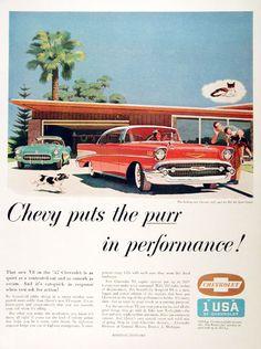 1957 Chevrolet Bel Air Sport Coupe & Corvette