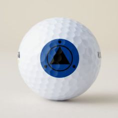 Golf Ball SACRED GEOMETRY black on royal blue Gifts For Golfers, Golf Gifts, Hole In One, Golf Ball, Sports Equipment, Sacred Geometry, Rainbow Colors, Cover Design, Royal Blue