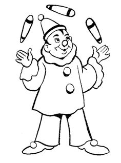 We Offer A Great Set Of Free Printable Clown Coloring Pages Color The Dancing And Juggling Clowns