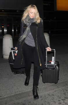 Rachel McAdams with her family arriving at JFK airport in New York City.