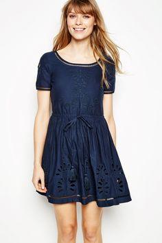 BARNETBY EMBROIDERED SHORT SLEEVE DRESS | JackWills UK