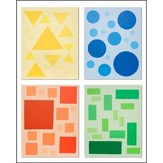 colors and shapes art...make a template of assorted circles on dark yellow paper for them to cut out and arrang on light yellow paper...etc