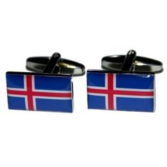 Manchetknopen IJslandse Vlag
