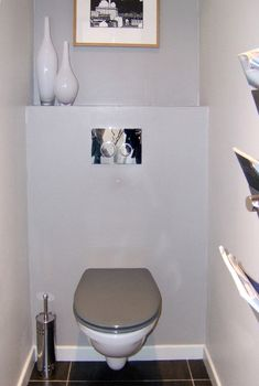 Mod le idee deco wc suspendu taupe photos et d co - Deco toilettes taupe ...