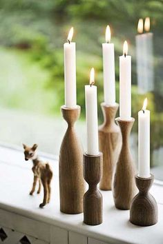 21 23 Stunning Wooden Candle Holders and Candle Holder Centerpiece Detailed Guide homesthetics decor Wood Turning Lathe, Wood Turning Projects, Wood Lathe, Lathe Projects, Woodworking Projects, Modern Candle Holders, Wooden Candlestick Holders, Wooden Textures, Minimalist Christmas