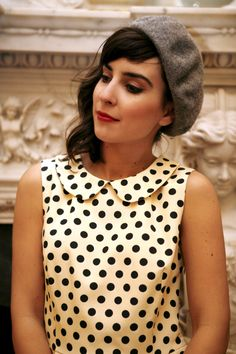 dots blouse retro