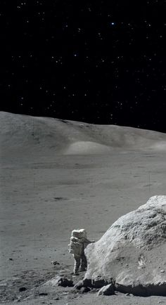 Apollo 17 astronaut on the Moon surface in 1972.