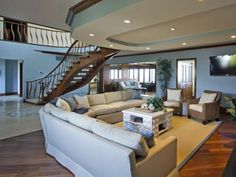 Coastal Living Room Ideas | Living Room and Dining Room Decorating Ideas and Design | HGTV