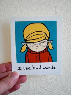 Blonde Bad Words Swearing Girl, 60s Retro Inspired, Funny Magnet on Etsy, $6.75