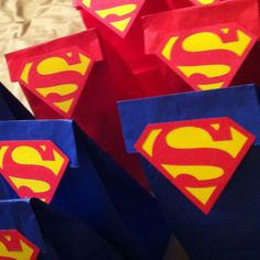 Superman cricut paperbag goody bags