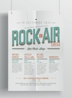Rock in Air // Great design, organized using a grid, with great hierarchy and order. Very easy to read and understand.