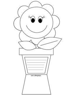 Mother's day card coloring page – Artofit Mothers Day Crafts For Kids, Fathers Day Crafts, Mothers Day Cards, Diy Crafts For Kids, 8th Of March, Kids Cards, Spring Art, Preschool Crafts, Coloring Pages