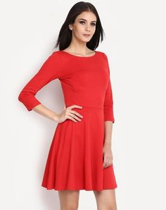 cfde1ff959a76 Purchase online   Red Midi Dress available at ladyindia.com http   bit