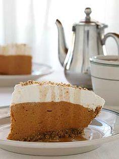 Jack Daniels Chiffon Pumpkin Pie - Chiffon is my absolute favorite!  <3 So light after a heavy meal!