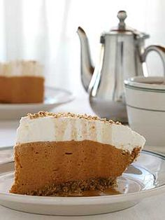 Jack Daniels Chiffon Pumpkin Pie - Chiffon is my absolute favorite!  <3 So light after a heavy meal!