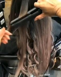 Curls For Long Hair, Curly Hair Tips, Easy Hairstyles For Long Hair, Curled Hairstyles, Medium Hairstyles, Formal Hairstyles, Hair Curling Tips, Curl Hair With Straightener, Hair Curling Tutorial