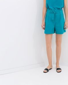 Image 3 of PLEATED SHORTS from Zara