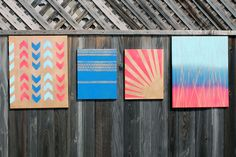We've dabbled in our fair share of wall art here at Brit + Co. From shoeboxes to tulle to the love-liest chalkboard clock around, we're always looking for the next good hack on decorating our space. Today's collection of wall art is part of our DIY Basics series and each piece takes less than 10 minutes to make. Win!