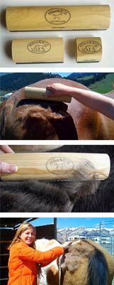 SleekEz grooming tool.  I need this for shedding season!  Tired of buying grooming blocks