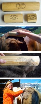 SleekEz grooming tool.  I need this for shedding season!  Tired of buying grooming blocks