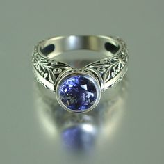THE BLUE COUNTESS silver ring with Iolite sizes 7 to by WingedLion, $465.00