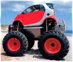 A Smart... monster truck. Right then!