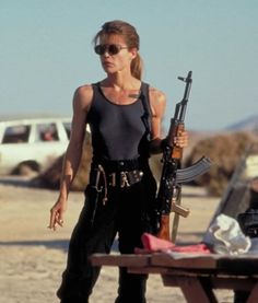 Linda Hamilton in Terminator 2. There probably is no Maureen Coughlin without Sara Connor.
