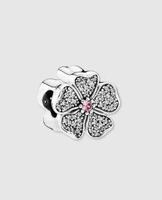 Charm flor de manzano en plata y circonita Pandora