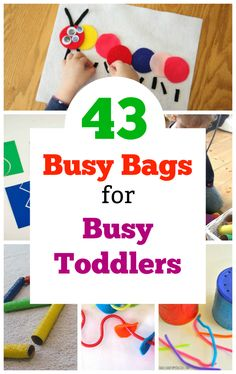43 Quiet Time Activities for 2 Year Olds Awesome toddler busy bags! Perfect quiet time activities for two and three year olds. 43 Quiet Time Activities for 2 Year Olds Awesome toddler busy bags! Perfect quiet time activities for two and three year olds. Two Years Old Activities, Quiet Time Activities, Kids Learning Activities, Activities For 2 Year Olds Indoor, Baby Learning, Summer Activities, Family Activities, Craft Activities, Preschool Crafts