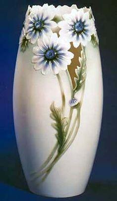 franz porcelain daisies vase