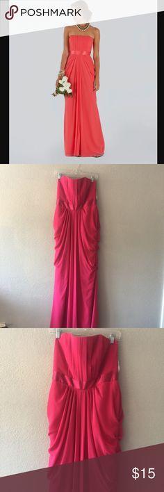 Pink David's Bridal strapless dress size 12 Pink David's Bridal strapless dress size 12 David's Bridal Dresses Strapless