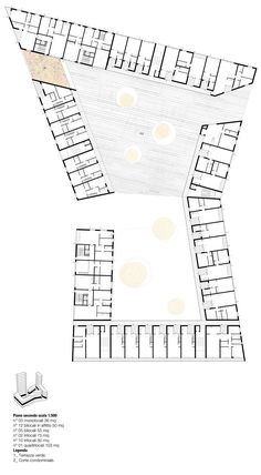 Social Housing in Milan / StudioWOK. second-level-plan