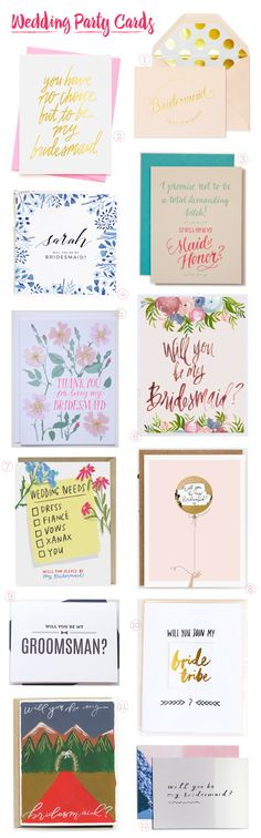 Stationery A-Z: Will You Be My Bridesmaid Cards