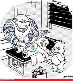 So THAT'S How Care Bears Get Their Belly Art