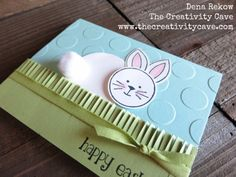 Check out this adorable easter card using Stampin Up's Fringe Flowers & Friends set. #stampinup #handmade #thecreativitycave