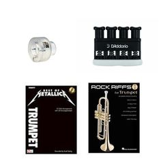 Items similar to Trumpet Music Academy Advancement pack -Trumpet Embouchure Tool; Adjustable Hand Exerciser + (Metallica Rock Music Book Bundle) on Etsy Trumpet Accessories, Trumpet Music, Trumpet Players, Teaching Tools, Rock Music, Metallica, Packing, Books, Bag Packaging