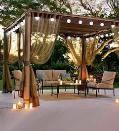 The pergola kits are the easiest and quickest way to build a garden pergola. There are lots of do it yourself pergola kits available to you so that anyone could easily put them together to construct a new structure at their backyard. Diy Pergola, Pergola Curtains, Wooden Pergola, Outdoor Pergola, Outdoor Spaces, Outdoor Living, Outdoor Decor, Pergola Ideas, Patio Ideas